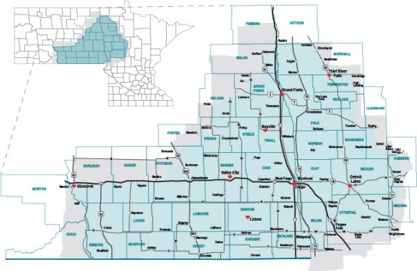 House Calls service area map